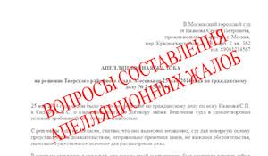 Как правильно написать апелляционную жалобу в суд